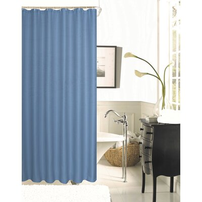 Figaro Waffle Shower Curtain Color: River Blue