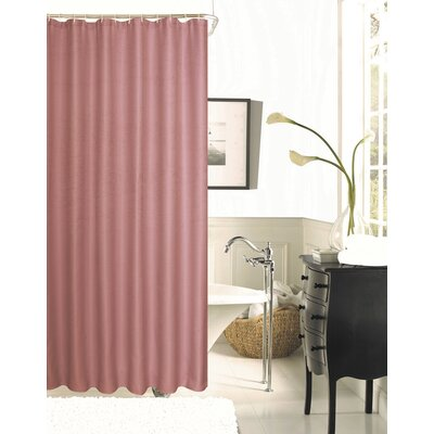 Figaro Waffle Shower Curtain Color: Blush