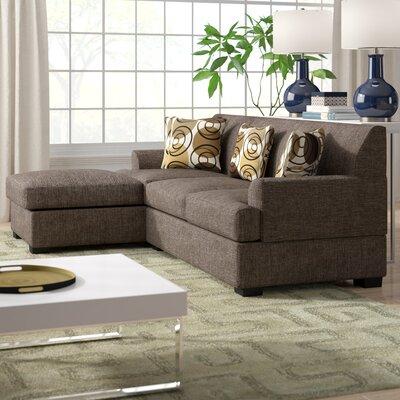 Mila Reversible Sectional Upholstery: Faux Linen-Slate