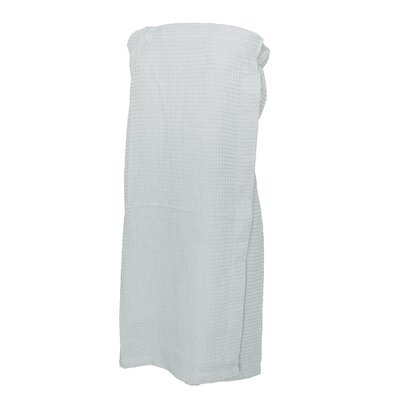Pimlico Womens Waffle Weave Spa Wrap Bathrobe Color: White