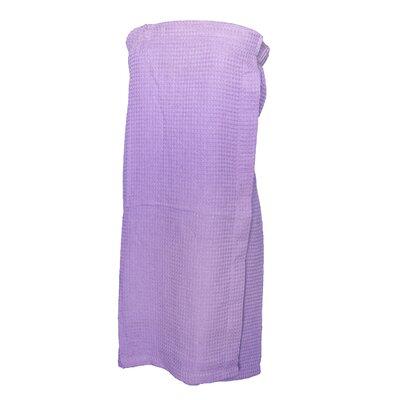 Pimlico Women's Waffle Weave Spa Wrap Bathrobe Color: Lavender