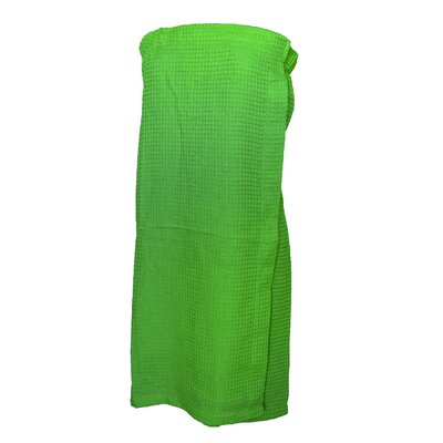 Pimlico Women's Waffle Weave Spa Wrap Bathrobe Color: Lime Green