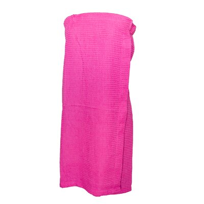 Pimlico Women's Waffle Weave Spa Wrap Bathrobe Color: Hot Pink