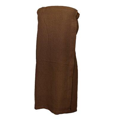 Pimlico Womens Waffle Weave Spa Wrap Bathrobe Color: Dark Chocolate
