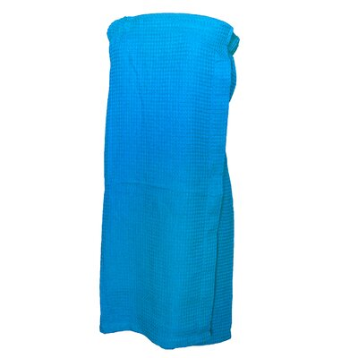 Pilarcitos Women Velour Spa Wrap Bathrobe Color: Aqua