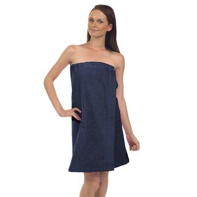 Pilarcitos Women Velour Spa Wrap Bathrobe Color: Navy