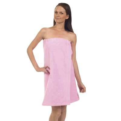 Pilarcitos Women Velour Spa Wrap Bathrobe Color: Pink