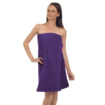 Pilarcitos Women Velour Spa Wrap Bathrobe Color: Purple