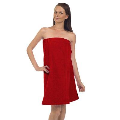 Pilarcitos Women Velour Spa Wrap Bathrobe Color: Red