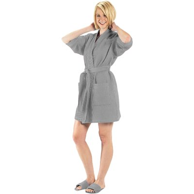 Bathrobe Color: Gray, Size: Large