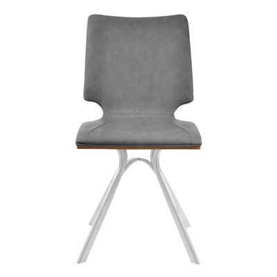 Lucker Upholstered Dining Chair Upholstery Color: Gray