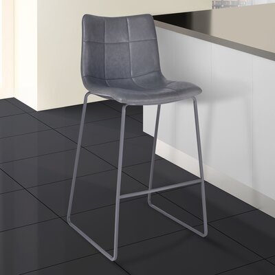 McMahon 26 Bar Stool Color: Powder Coated Gray