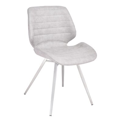 Cobel Upholstered Dining Chair Upholstery Color: Gray