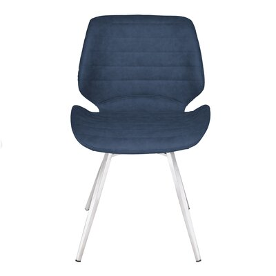Cobel Upholstered Dining Chair Upholstery Color: Dark Blue