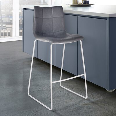 McMahon 26 Bar Stool Color: Brushed Stainless Steel