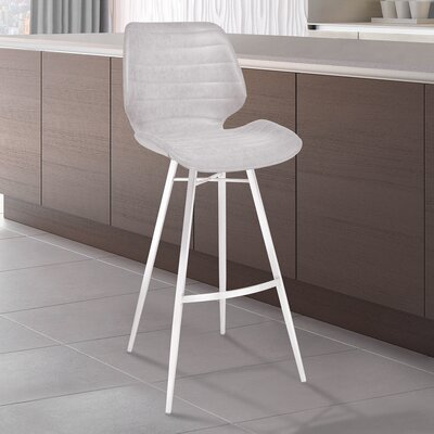Cobel 30 Bar Stool Upholstery: Light Gray