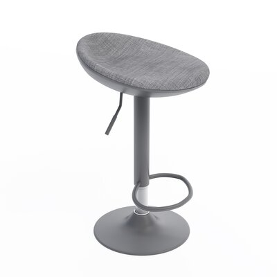 Mohrmann Adjustable Height Swivel Bar Stool Color: Gray