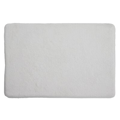 Piazza Memory Foam Bath Rug Color: White