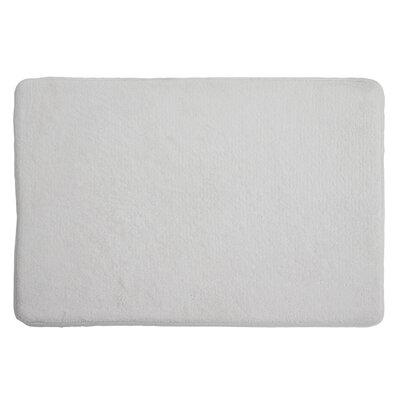 Piazza Memory Foam Bath Rug Color: White