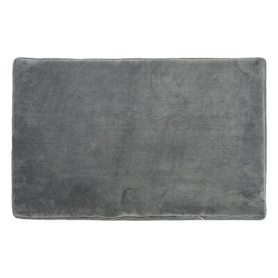 Piazza Memory Foam Bath Rug Color: Gray
