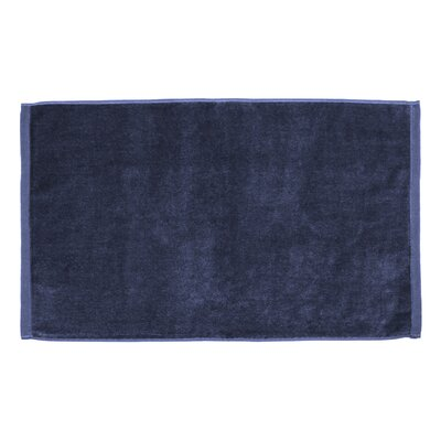 Petersburg Velour Hand Towel Color: Navy