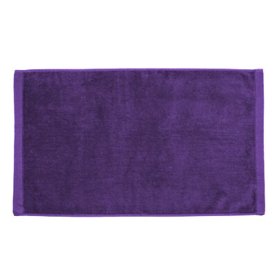 Perry Premium Velour Hand Towel Color: Purple