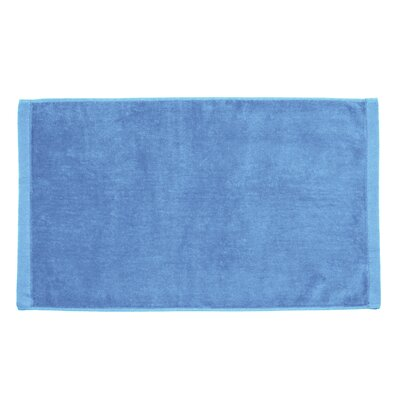 Perry Premium Velour Hand Towel Color: Sky Blue