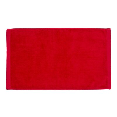 Perry Premium Velour Hand Towel Color: Red