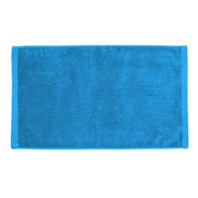 Perry Premium Velour Hand Towel Color: Aqua