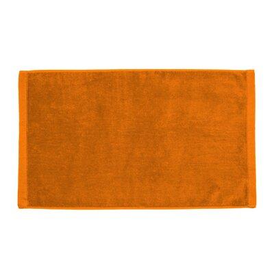 Perry Premium Velour Hand Towel Color: Orange