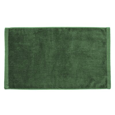 Perry Premium Velour Hand Towel Color: Green