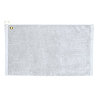 Perry Premium Velour Hand Towel Color: White