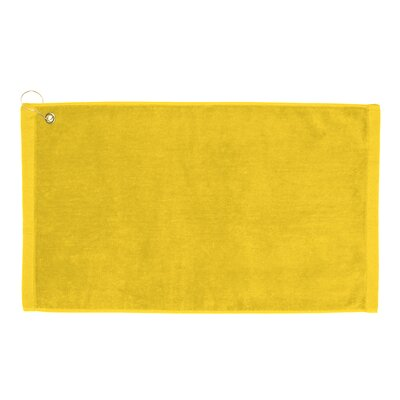 Perry Premium Velour Hand Towel Color: Yellow
