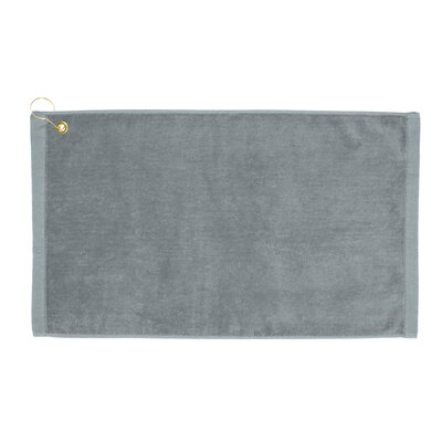 Perry Premium Velour Hand Towel Color: Silver