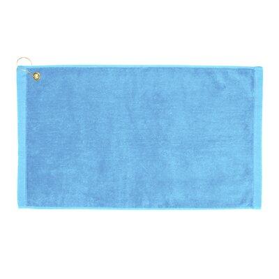 Perry Premium Velour Hand Towel Color: Light Blue