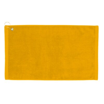 Perry Premium Velour Hand Towel Color: Gold