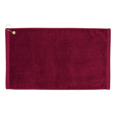 Perry Premium Velour Hand Towel Color: Burgundy
