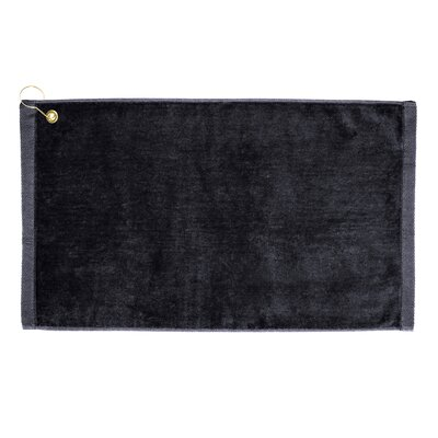 Perry Premium Velour Hand Towel Color: Black