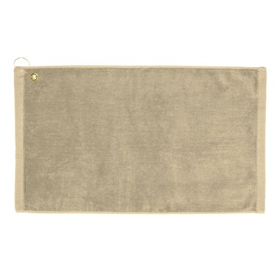 Perry Premium Velour Hand Towel Color: Beige