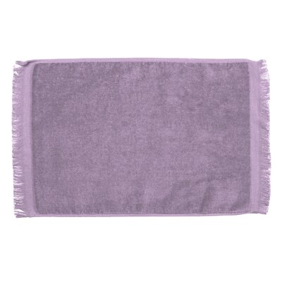 Pequoig Premium Fringed Velour Hand Towel (Set of 6) Color: Lavender