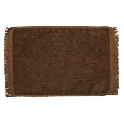 Pequoig Premium Fringed Velour Hand Towel (Set of 6) Color: Brown