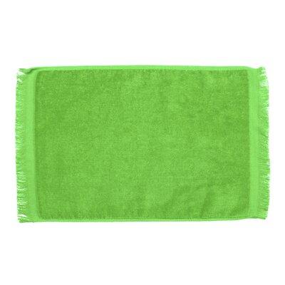 Pequoig Premium Fringed Velour Hand Towel (Set of 6) Color: Lime Green