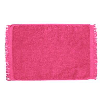 Pequoig Premium Fringed Velour Hand Towel (Set of 6) Color: Hot Pink