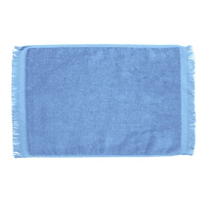 Pequoig Premium Fringed Velour Hand Towel (Set of 6) Color: Light Blue