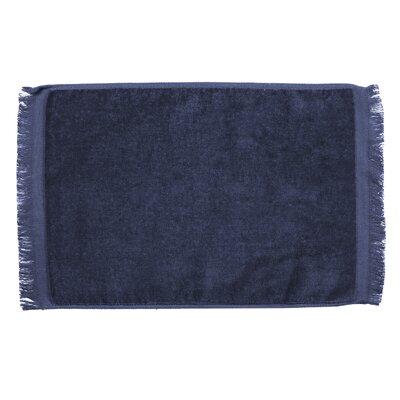 Pequoig Premium Fringed Velour Hand Towel (Set of 6) Color: Navy