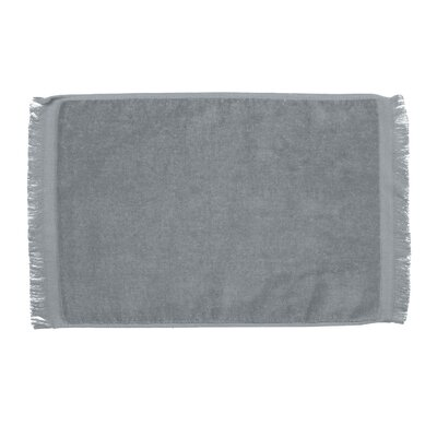 Pequoig Premium Fringed Velour Hand Towel (Set of 6) Color: Silver
