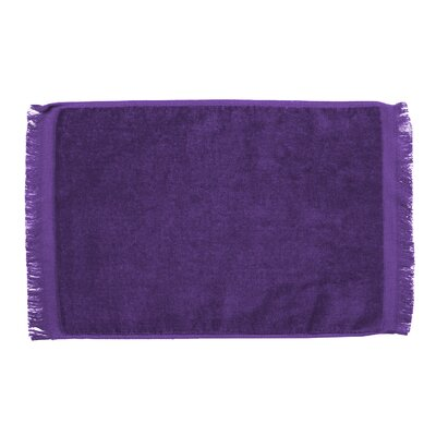 Pequoig Premium Fringed Velour Hand Towel (Set of 6) Color: Purple