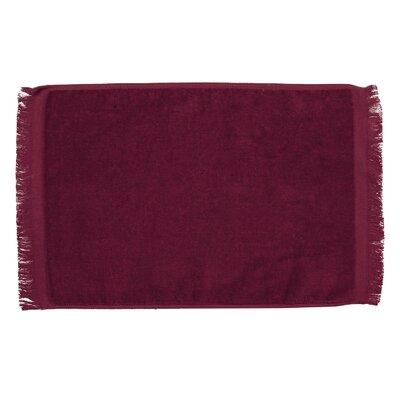 Pequoig Premium Fringed Velour Hand Towel (Set of 6) Color: Burgundy