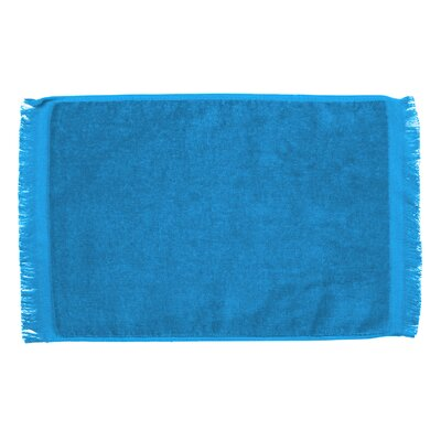 Pequoig Premium Fringed Velour Hand Towel (Set of 6) Color: Aqua