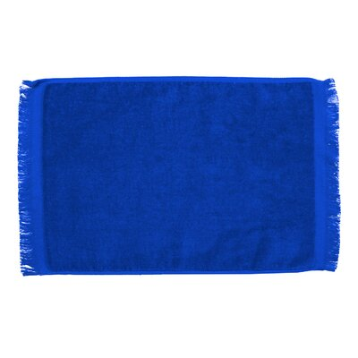 Pequoig Premium Fringed Velour Hand Towel (Set of 6) Color: Royal